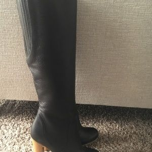 Gucci Black leather boots Sz 37-1/2 New